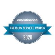 EMEA Finance Treasury Services Awards logo